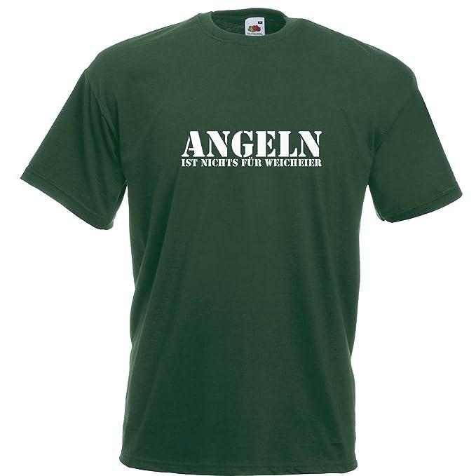 Gr Angeln is nix für Weicheier S bis XXL Herren-T-Shirt