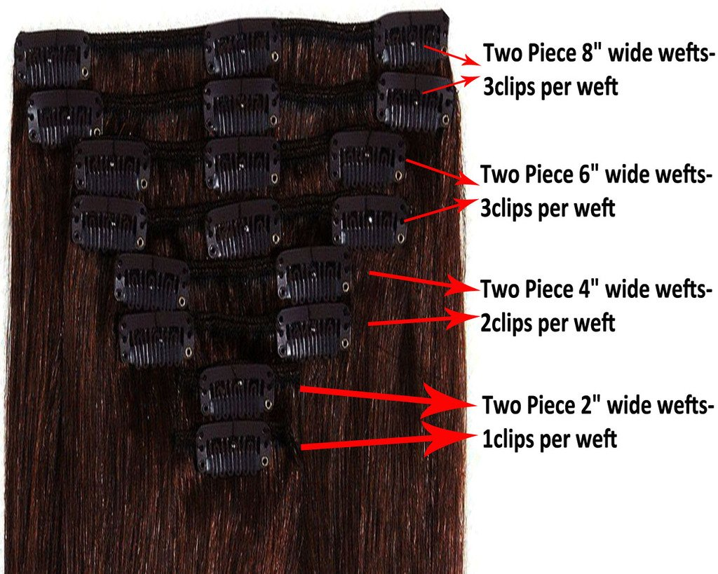 Lelinta 18'' 8Pcs 100% Remy Real Human Single Thick Weft Hair Straight Extension by Lelinta (Image #6)