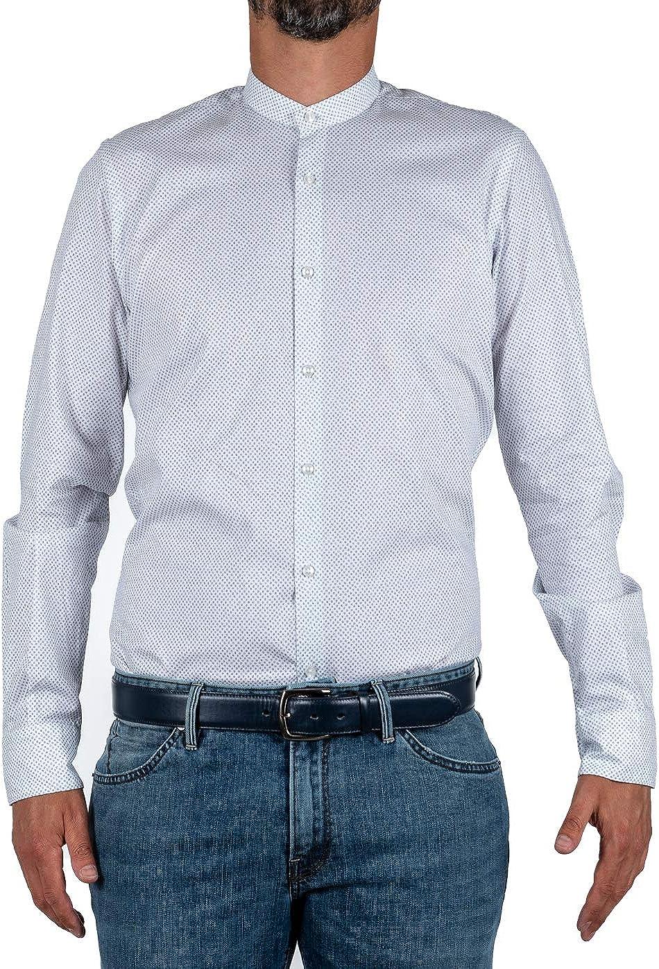 Marcus - Camisa de hombre de Delsiena, color blanco, coreana, fantasía floral Bianco 40 ES: Amazon.es: Ropa y accesorios