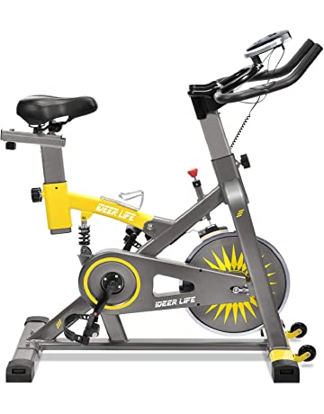 22b9357a7e6 iDeer Life Exercise Bike, Indoor Cycling Bike, Smooth & Quiet Stationary  Spin Bike,
