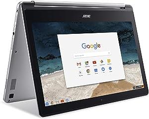 Acer R13 Chromebook 13.3' 2-in-1 FHD IPS Touchscreen - Intel Quad-Core MediaTek MT8173C 2.1GHz, 4GB RAM, 64GB SSD, HDMI, Bluetooth, Chrome OS (Renewed)