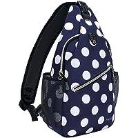 Mosiso Sling Travel Hiking White Dot Rope Crossbody Backpack