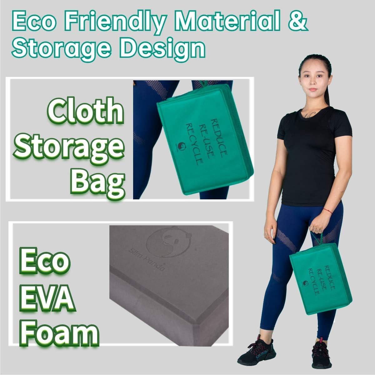 Slim Panda Sturdy 3x6x9 inch Foam EVA Yoga Blocks 2 Pack