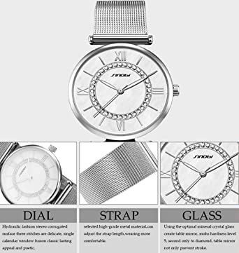 Amazon.com: SK Women Watches Ultra Thin Quartz Watches Elegant Dress Girls Ladies Wristwatch (11S9631G01): Watches