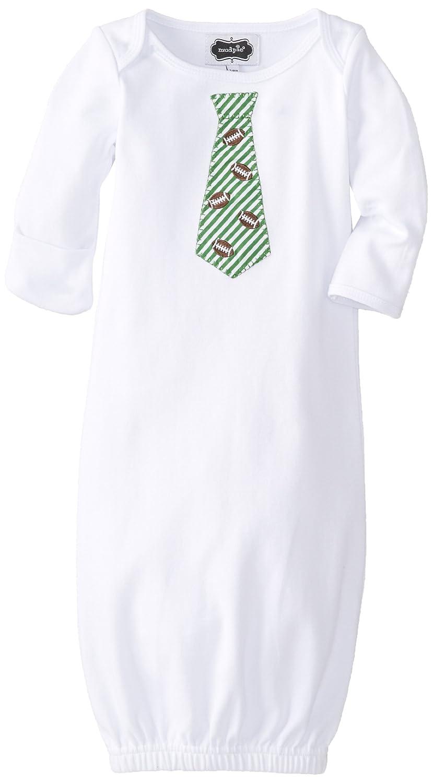 Amazon.com: Mud Pie Baby Boys\' Football Tie Sleepgown, White, 0-3 ...