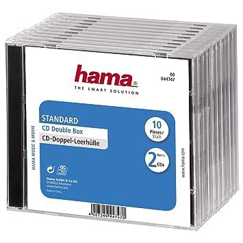 Hama - Cajas de CD estándar (10 unidades)