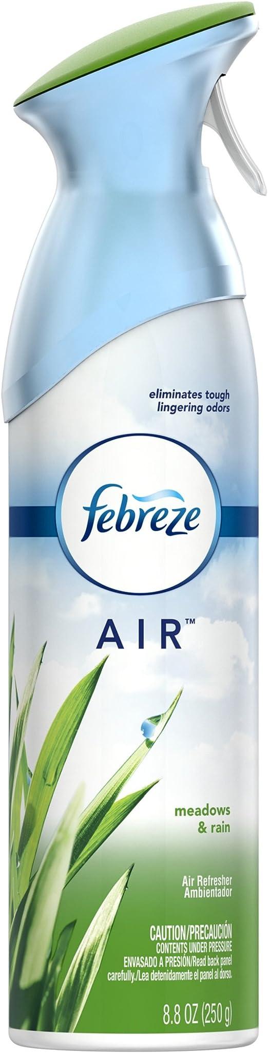 Febreze AIR Effects Air Freshener Meadows & Rain, 8.8 oz (Pack of 6)