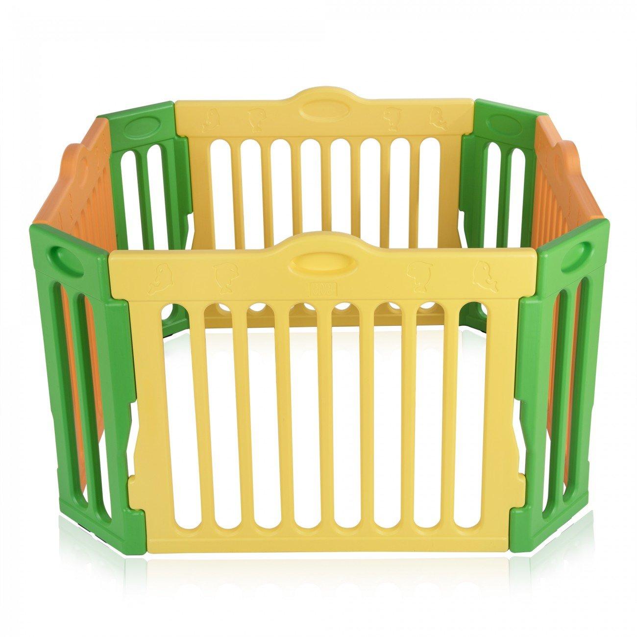 Baby Vivo Box per Bambini Sicurezza Barriera Pieghevole Recinto Plastica Estensibile Pacchetto supplementari - Modello 2017