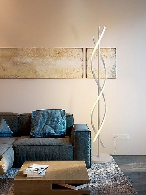 Amazon.com: Lámpara de pie LED en espiral, moderna ...