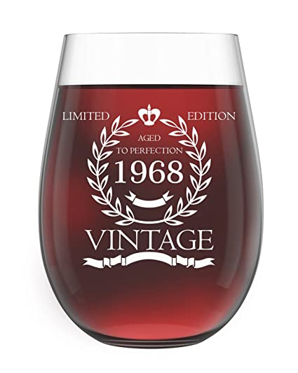 amazon com 1968 50th birthday gifts for women and men wine glass
