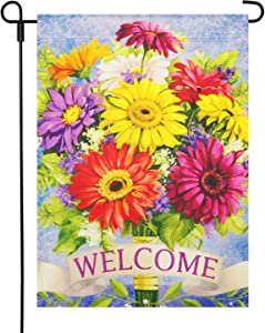 LAYOER 12.5 x 18 Inch Home Garden Flag House Double Sided Spring Summer Flowers Decorative Garden Banner Yard Outdoor(13 x 18 Inch)