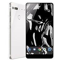 Essential Phone in Pure White – 128 GB Unlocked Titanium and Ceramic phone with Edge-to-Edge Display