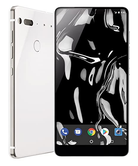a032be0609c Amazon.com  Essential Phone in Pure White – 128 GB Unlocked Titanium and Ceramic  phone with Edge-to-Edge Display  Cell Phones   Accessories
