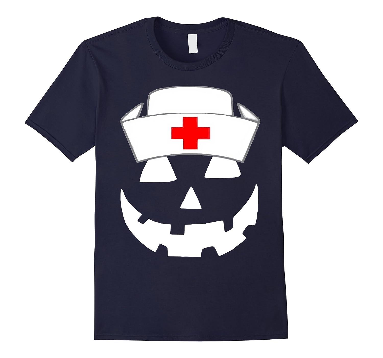 Official Halloween Pumpkin Nurse Funny T-Shirt-FL