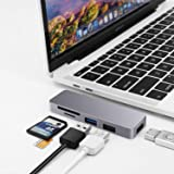 USB-C Hub,6-in-1 USB C Hub Adapter with USB 3.0/2.0, 87W Small USB Hub for Laptop Powered Delivery, TF/SD Card Reader…