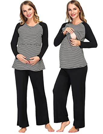 Clothing, Shoes & Accessories Ladies Maternity Nursing Pajamas Pyjamas Set Trousers And Top Buy One Get One Free Nursing