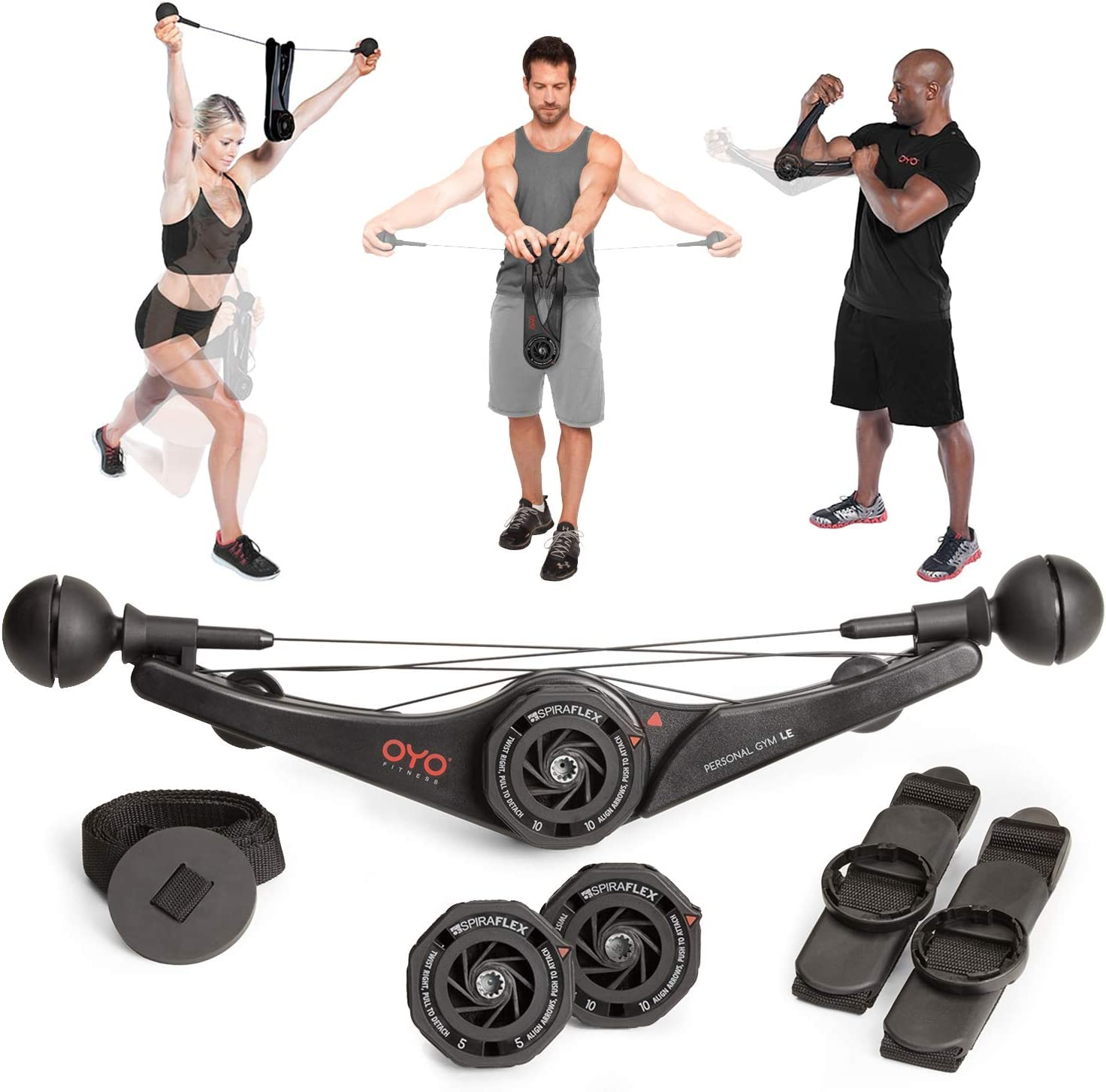Amazon Com Oyo Personal Gym Full Body Portable Gym Equipment Set For Exercise At Home Office Or Travel Spiraflex Strength Training Fitness Technology Nasa Technology Sports Outdoors