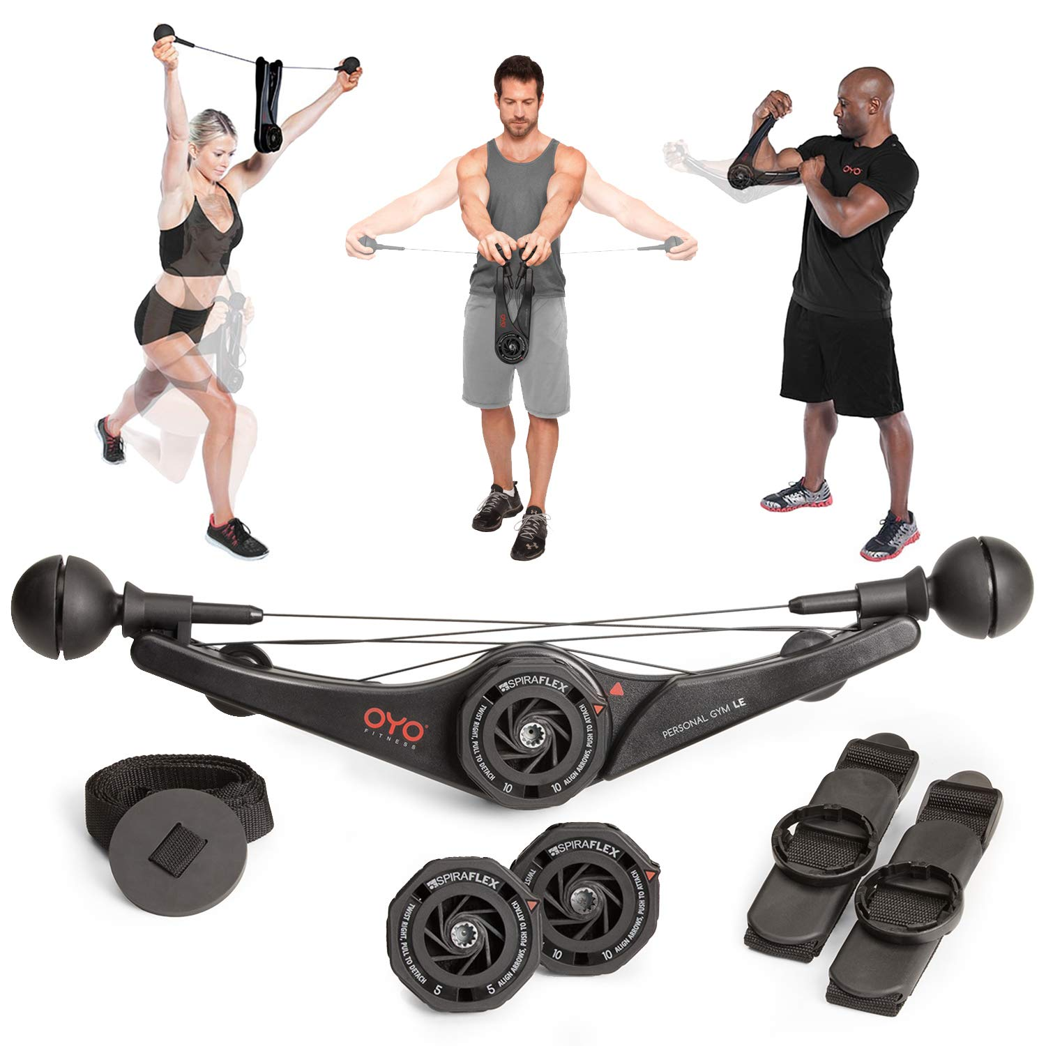 OYO Personal Gym – Full Body Portable Gym Equipment Set for Exercise at Home, Office or Travel – SpiraFlex Strength Training Fitness Technology – Used by NASA