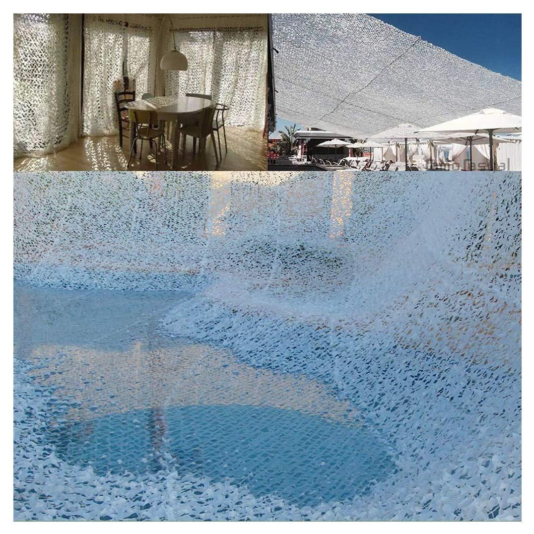 Dimensioni : 2 * 3M 6.6 * 9.8ft Rete Mimetica Bianca Camo Rete Esterna Neve Interna Mimetica Tenda da Sole Rete Tenda da Sole per Patio Protezione Rete da Giardino Rete 2x3m 3x4m 10m