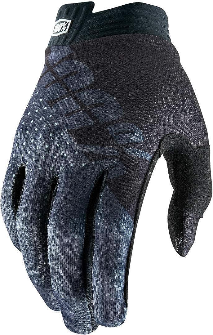 Mediano para Hombre 100 Percent ITRACK 100/% Glove Black//Charcoal LG Guantes para ocasi/ón Especial Negro