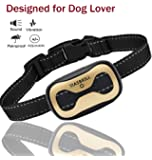 MASBRILL Dog Bark Collar - Upgrade 2018 Safe No Bark Control Device for Small Medium Large dog-Adjustable Stop barking by Sound and Vibration- No Shock Human Vibrating Bark for Dog Lovers