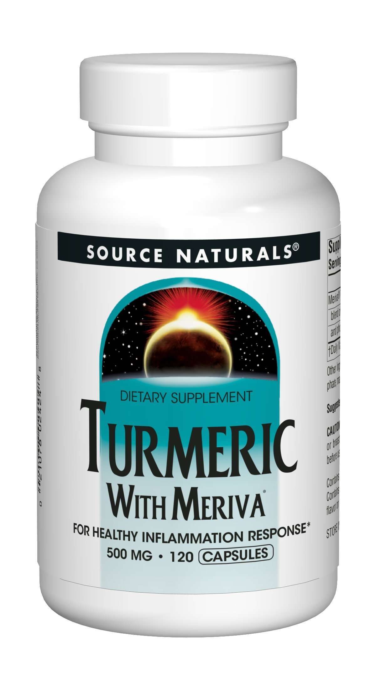 Source Naturals Turmeric With Meriva 500mg For Healthy Inflammation Response Joint Pain Relief - Maximum Phytosome Increased Absorption Anti-Inflammatory & Liver Detoxication - 120 Capsules
