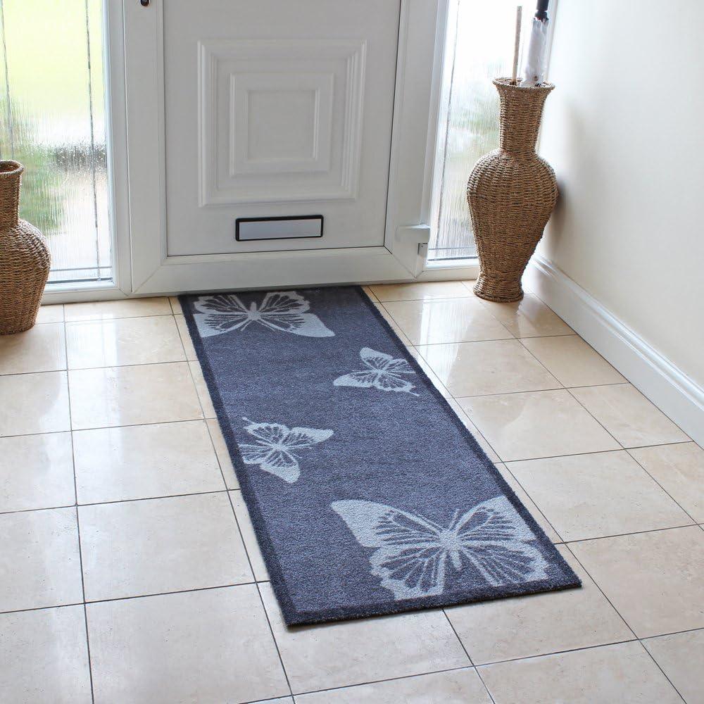 Disponible en 2 tama/ños Felpudos para Interior Door mats JVL Mega Mat Runner Butterfly Diamond Geo 50x75cm Geo