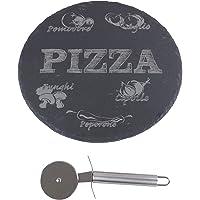 Pasmao Generic–pietra per pizza con rotella tagliapizza