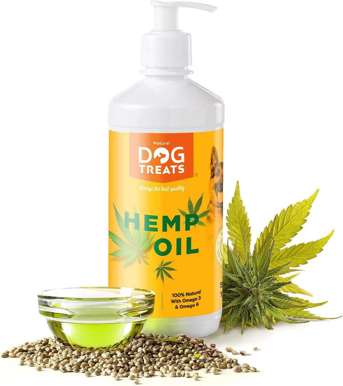 Aceite de Semilla de Cáñamo para Perros, Gatos y Caballos, 100% Natural Crudo y Virgen Suplemento, 500 ml