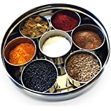 Stainless Steel Indian Spice Box, Masala Dabba