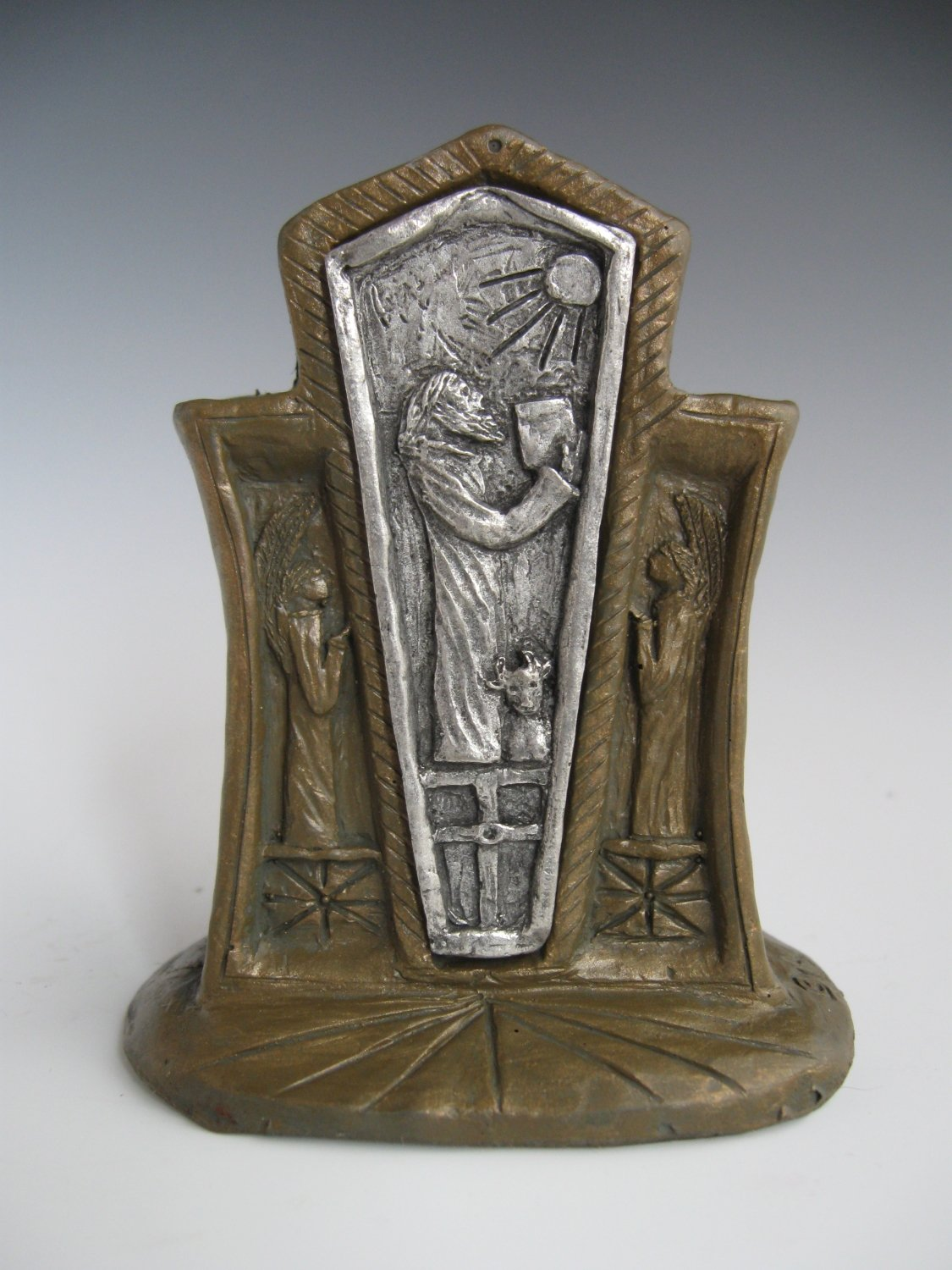 St. Luke: Patron of Physicians and Medical Students; Handmade Statue with Scroll