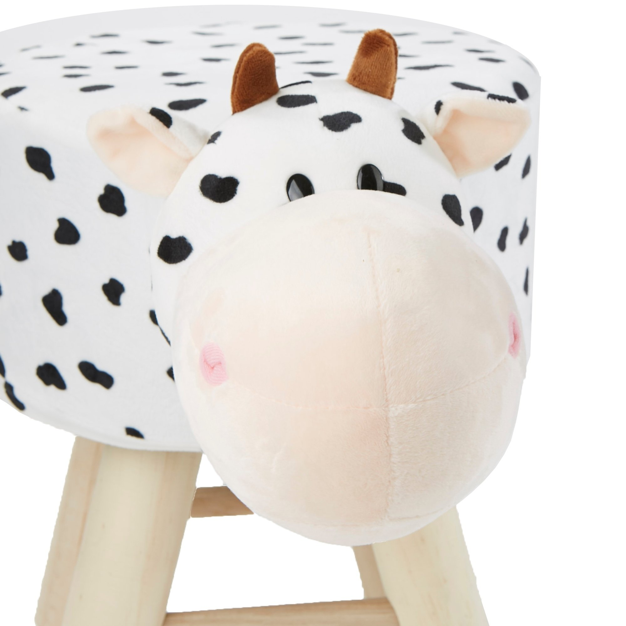 Svitlife Mind Reader Children's Favorite Cow Animal Stool, Chair, Ottoman, Foot Rest, White Ottoman Chair Rest Stool Foot Seat Footrest Footstool Storage Leather