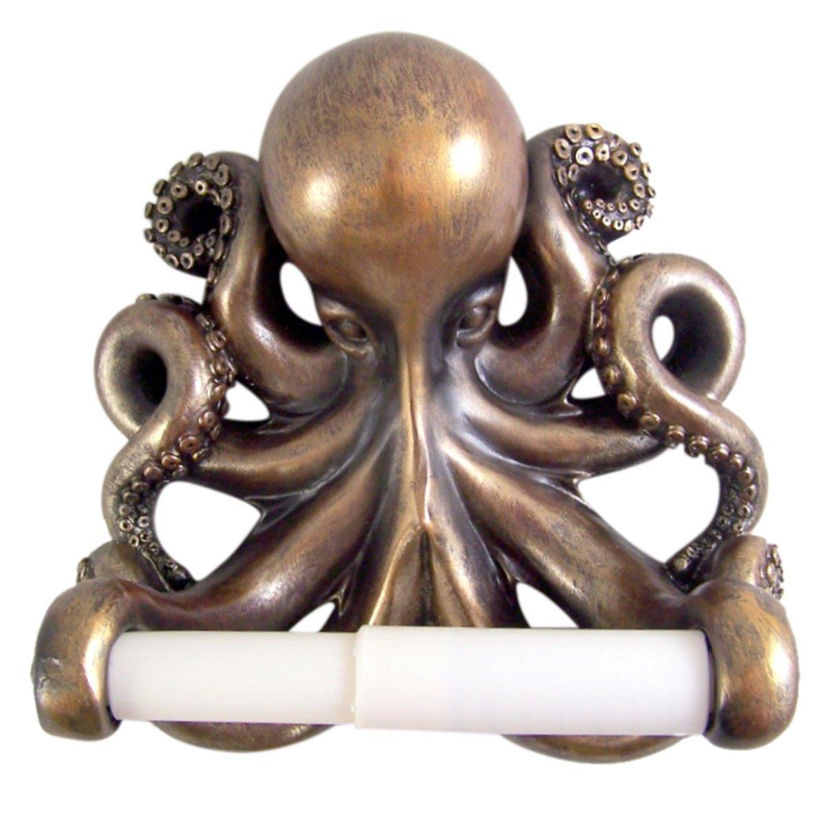 Kraken Octopus Toilet Paper Holder Bathroom Decor