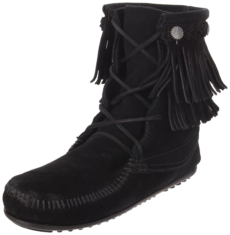 Black Minnetonka Women's Ankle Hi Tramper Boot