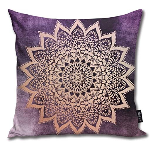 Cocoal-ltd Funda de cojín con diseño de Mandala en Color ...