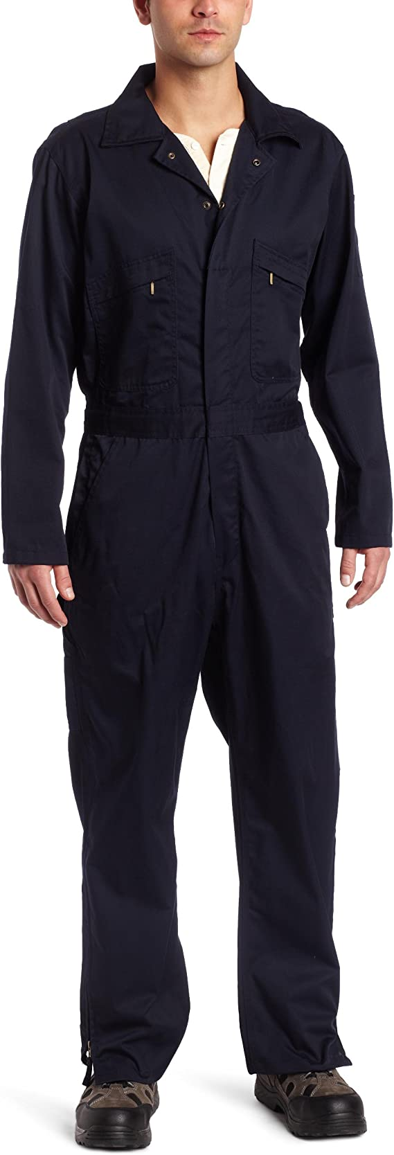 Navy Key Apparel Mens Deluxe Unlined Long Sleeve Coverall Large-Regular