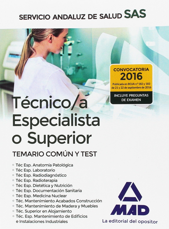 Técnico/a Especialista del Servicio Andaluz de Salud ...