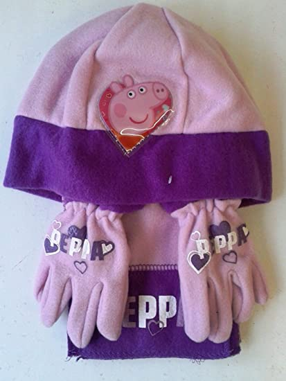 84832ac97e3b4 Peppa Pig Hat Glove   Scarf Set  Amazon.co.uk  Kitchen   Home