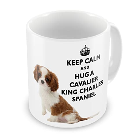 Keep Calm And Hug A Cavalier King Charles Spaniel Novelty Gift Mug: Amazon.co.uk: Kitchen & Home