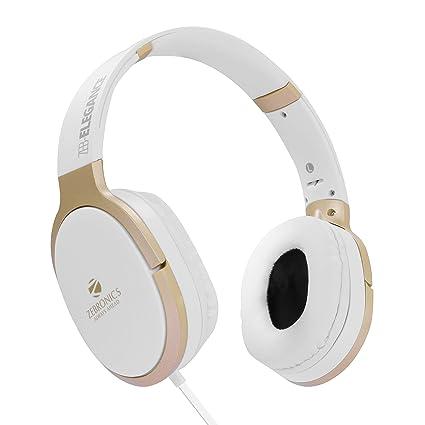 Zebronics Zeb Elegance 3.5mm Jack Headphone with Adjustable Headband  White