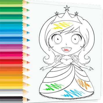 92+ Princess Coloring Book Pages Picture HD