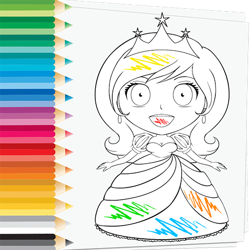 Prince Princess Coloring Book Princesas Bonitas Do Amor Gosta