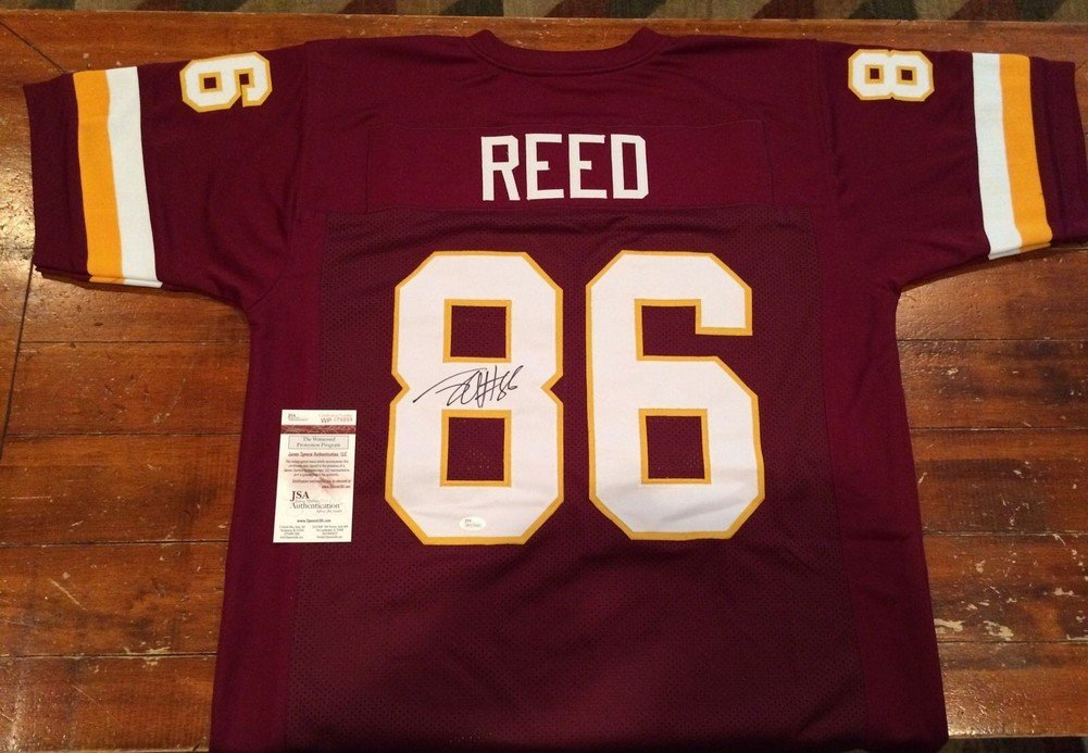ba3c50a85 ... promo code jordan reed signed washington redskins custom red jersey  witness jsa authentic autograph a9ace 41689