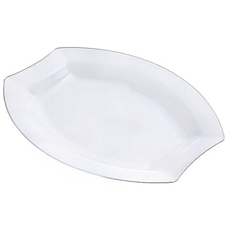 Amazon.com: Tableclothsfactory 50 Pcs - Clear w/ Silver Edge 10.5 ...