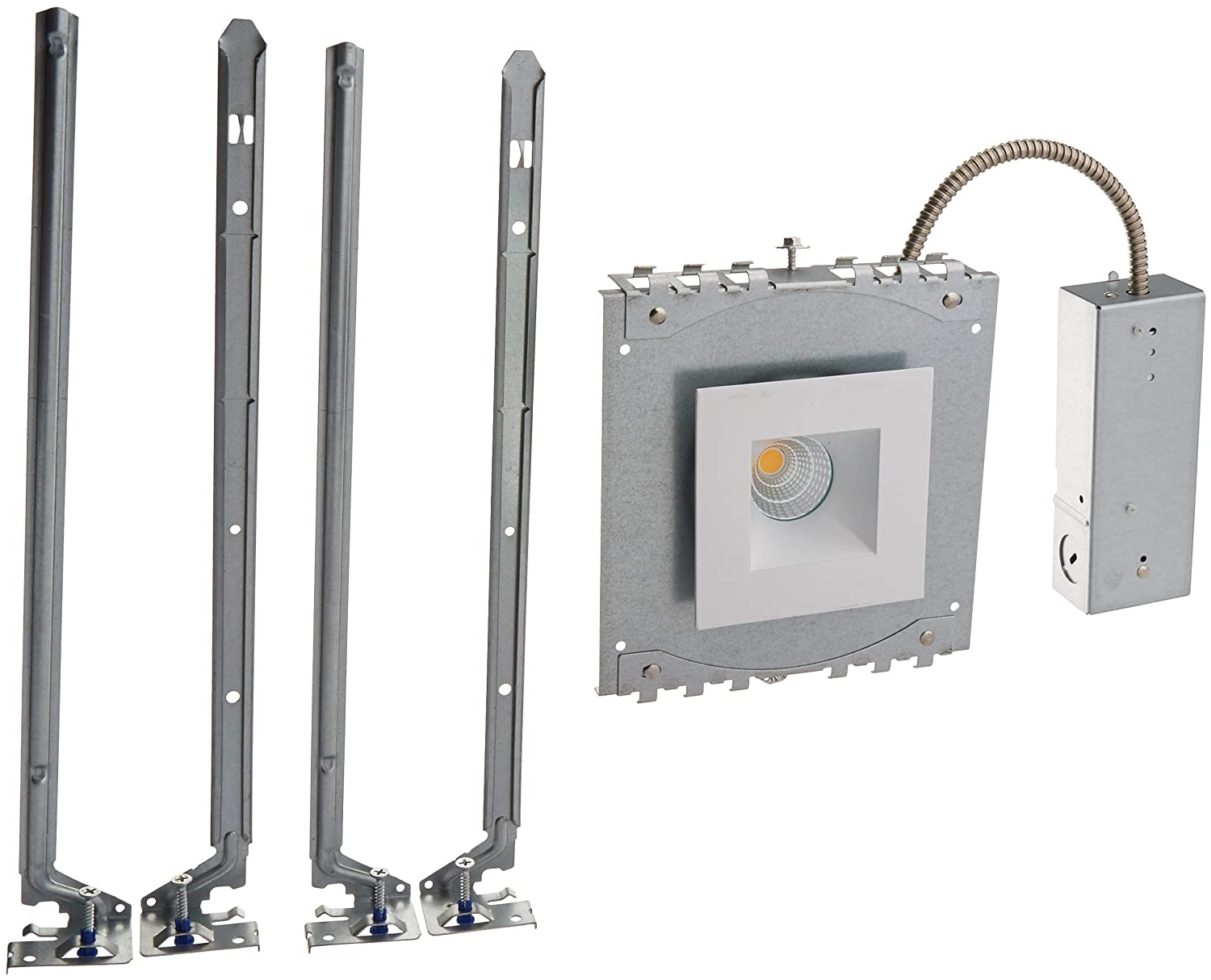 WAC Lighting R2BSD-F927-HZWT Oculux 2 LED Square Flood 2700K Trim with Light Engine and New Construction or Remodel Housing 50 Beam Haze//White