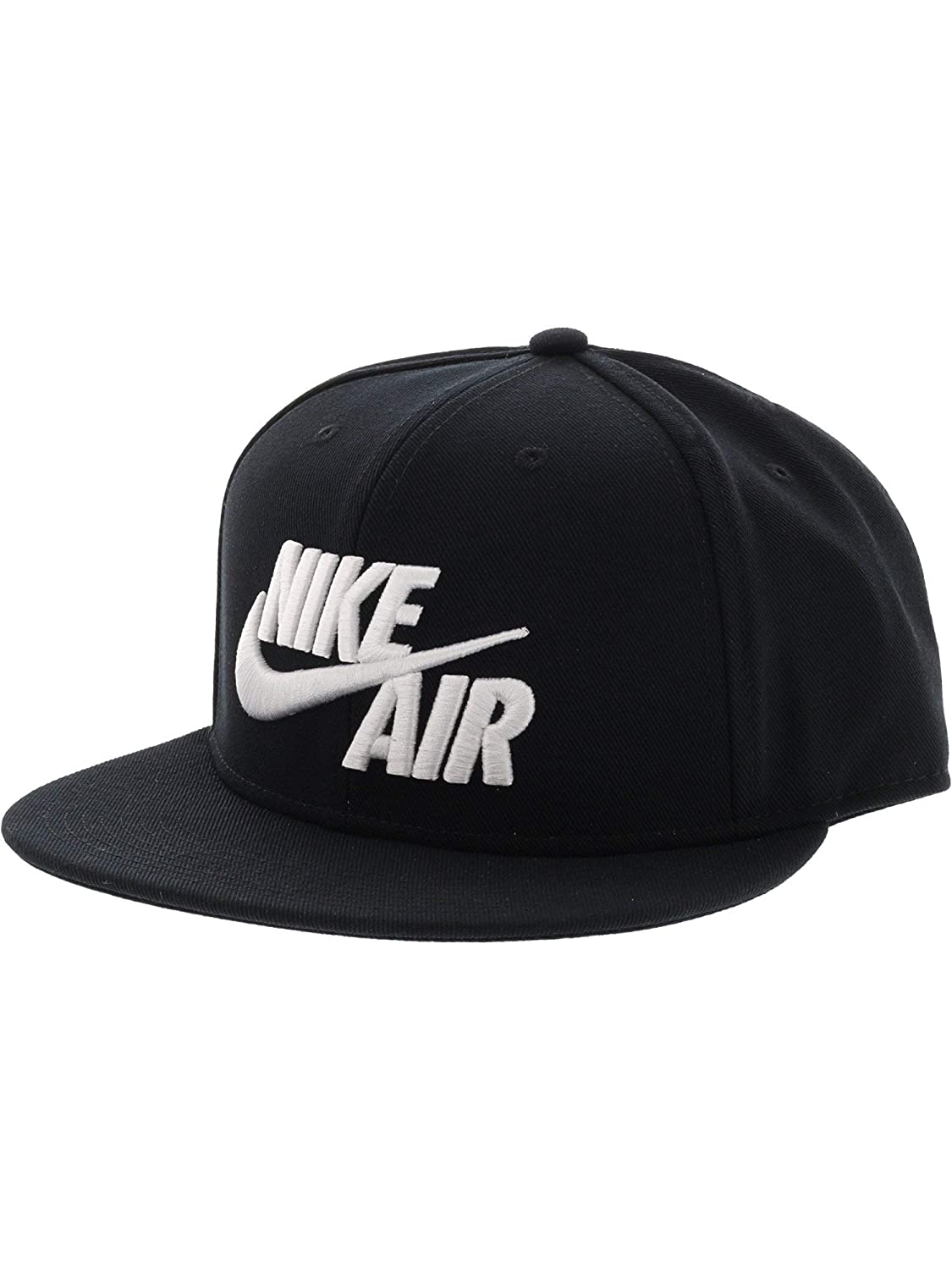 dc302fc80ee Amazon.com  NIKE Mens Air True Snapback Hat Black Metallic Gold  Sports    Outdoors