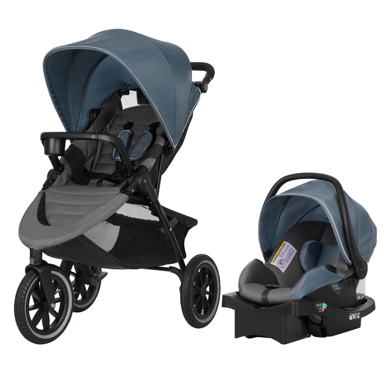 Evenflo Folio3 Stroll & Jog Travel System with LiteMax 35 Infant Car Seat, Avenue 57312205