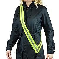 MOONSASH – USA Patented Hi-Visibility Reflective Sash > Reversible, Durable, Versatile, Stylish, No-Fuss Night Safety Gear for Men, Women & Kids > in Neon Yellow-Green & Midnight Black