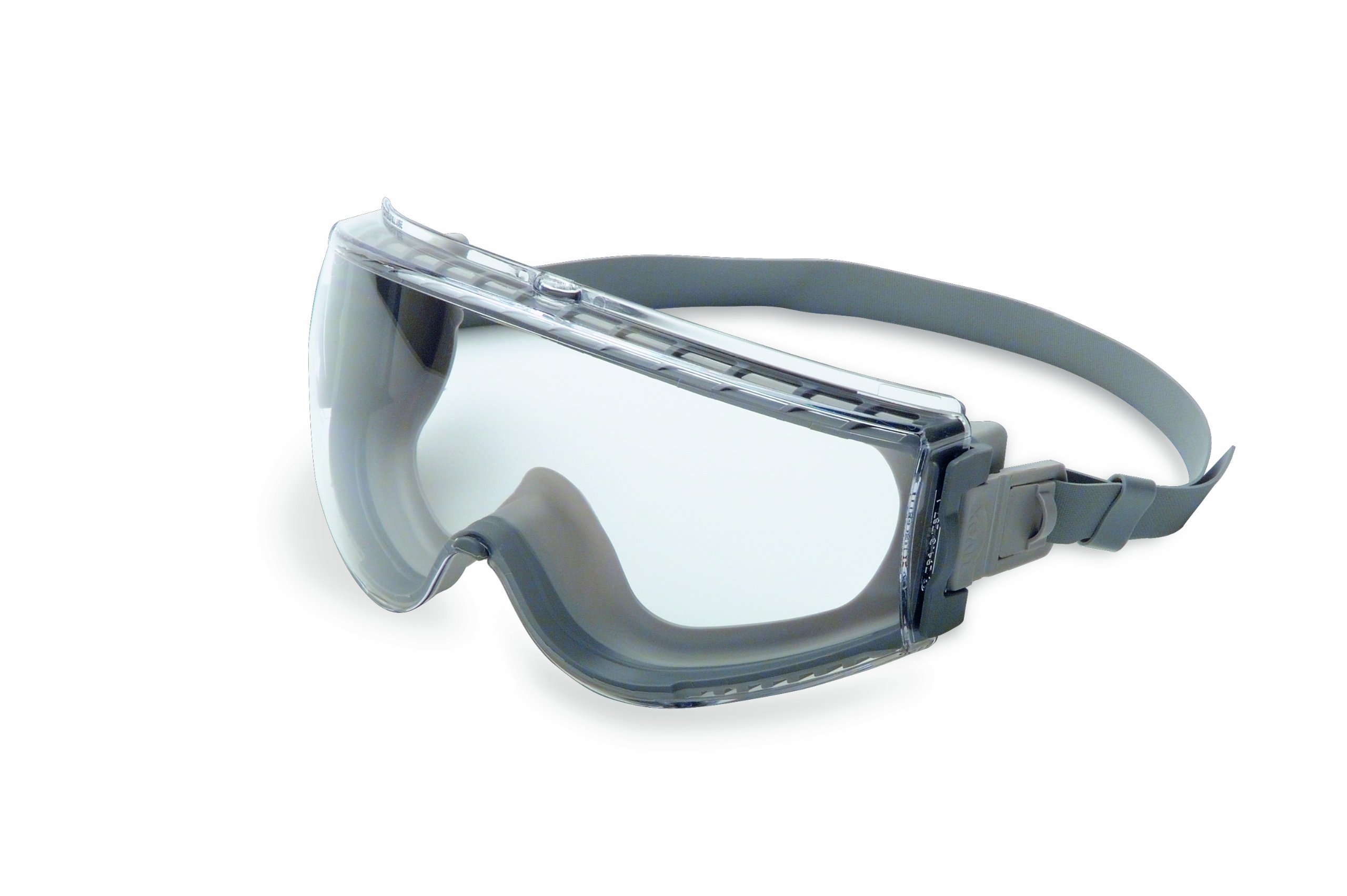 UVEX Stealth Safety Goggles with Clear Uvextreme Anti-Fog Lens, Gray Body & Neoprene Headband (S3960C), Universal