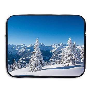 bxse nieve montaña bolsa de ordenador portátil bolsa para portátil funda de ordenador portátil resistente al